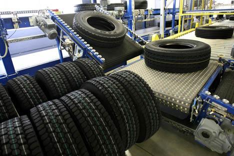 A distribuidora da Tatneft exporta para o Brasil de 30 a 35 mil pneus de caminhão por ano Foto: RIA Nóvosti