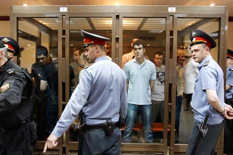 Julgamento foi transferido para tribunal de Moscou por falta de espaço para réus em Zamoskvorestki Foto: RIA Nóvosti
