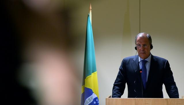 O chanceler russo lembrou a discussão da presidente Dilma Rousseff com o colega russo, Vladímir Pútin, sobre a compra do sistema de defesa antiaérea Pantsir para uso na Copa do Mundo e nas Olimpíadas Foto: AFP / EastNews