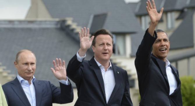 Apesar das divergências, Pútin, Cameron e Obama conseguiram chegar a um acordo sobre a questão síria Foto: Serguêi Guneev/RIA Nóvosti