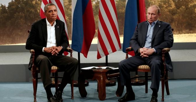 Apesar dos recentes atritos, Pútin (dir.) garante que EUA e Rússia compartilham interesses importantes Foto: Reuters