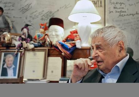 Aos 95, Liubímov recusou o convite de trabalhar novamente para o Taganka Foto: Kommersant