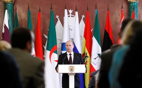 Vladímir Pútin na cúpula do Fórum de Países Exportadores de Gás. Foto: Reuters