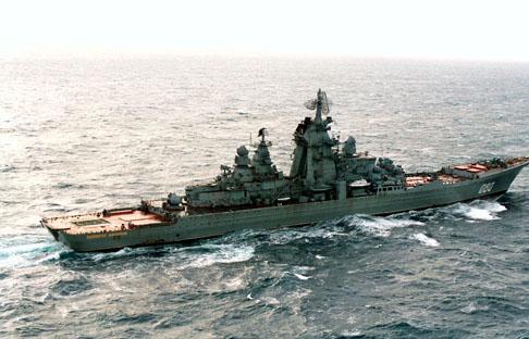 Principal arma do cruzador Almirante Nakhimov são 24 mísseis alados supersônicos Foto: ITAR-TASS