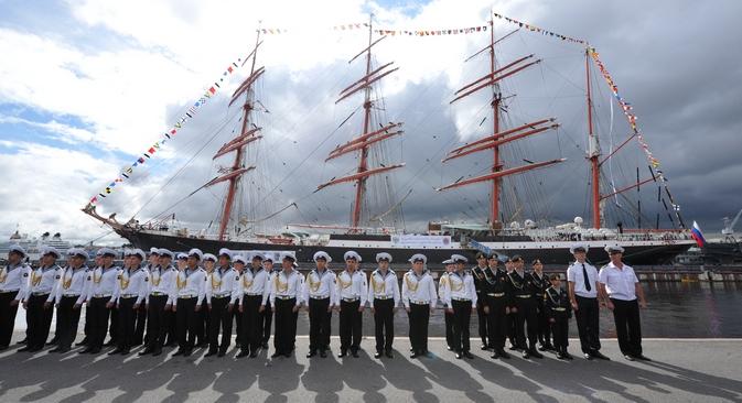 Excursão do Sedov comemorou os 1.150 anos de nascimento do Estado russo Foto: ITAR-TASS