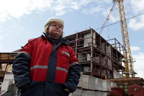 Trabalhadora da fábrica de Uralkáli Foto: ITAR-TASS