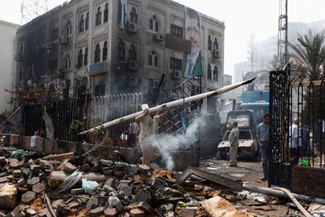 De com os dados atuais, a repressão às manifestações antigovernamentais no Cairo e em outras cidades já deixou mais de 800 mortos Foto: Reuters