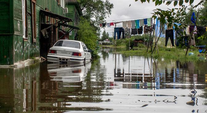 Volume de água nos rios da região é o maior desde o final do século 19 Foto: RIA Nóvosti / Serguêi Mámontov