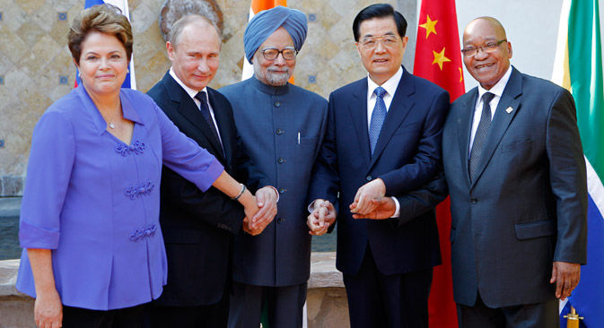 Rússia deve prestar atenção às vias de desenvolvimento dos outros países do BRICS Foto: AP