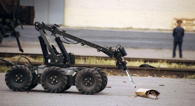 """O protótipo do robô chamado """"Thrall Patrol"""" foi desenvolvido pela empresa SMP Robotiks, instalada no centro de inovação Skôlkovo Foto: PhotoXPress"""