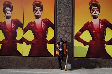 Empresas de publicidade gastaram com o direitos de uso de placares e cartazes em locais públicos 19,7 bilhões de rublos Foto: AP