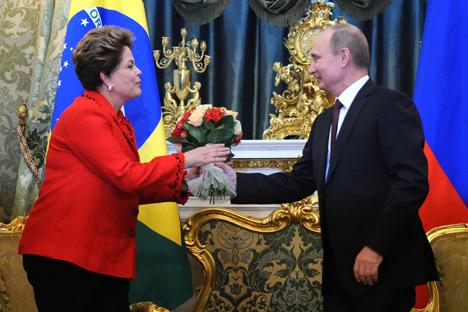 Presidente Dilma Rouseff se reuniu com Pútin em Moscou no final do ano passado Foto: AP