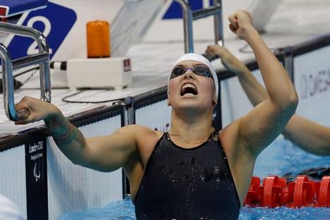 As três primeiras medalhas de ouro de Oksana foram conquistadas nos Jogos Paralímpicos de Pequim, em 2008 Foto: AP
