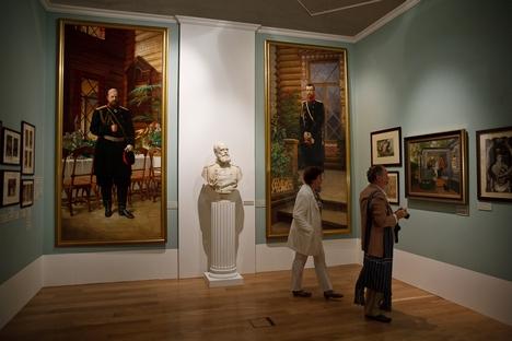 Exposição no Museu Estatal de História apresenta história e arte durante a dinastia Romanov Foto: Ruslan Sukhúchin