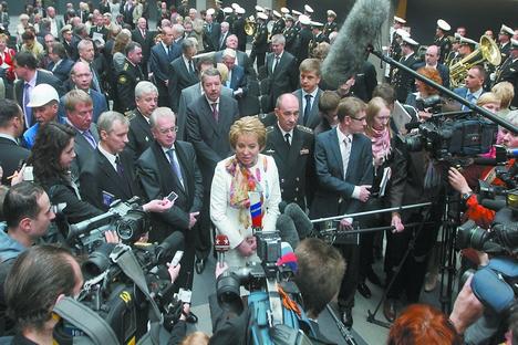 Uma das maiores apostas entre as políticas russas, Valentina Matvienko é presidente do Conselho da Federação Foto: ITAR-TASS