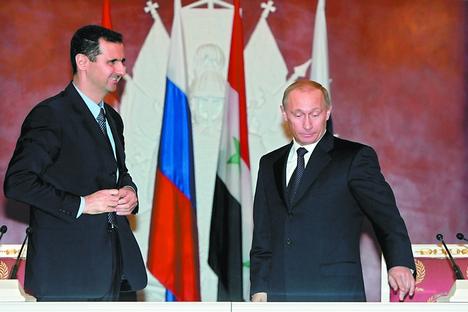 Moscou acredita que a queda de Assad levará o país ao caos, que poderá se expandir em seguida para todo o Oriente Médio Foto: Reuters