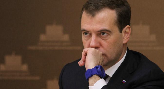 De acordo com premiê Dmítri Medvedev, é a primeira vez desde 2009 que a taxa de crescimento do PIB será inferior à da economia global Foto: ITAR-TASS