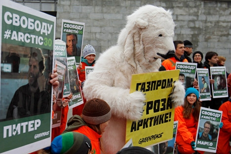 Protestos contra a exploração de petróleo no Ártico são recorrentes em diversas cidades russas Foto: Reuters