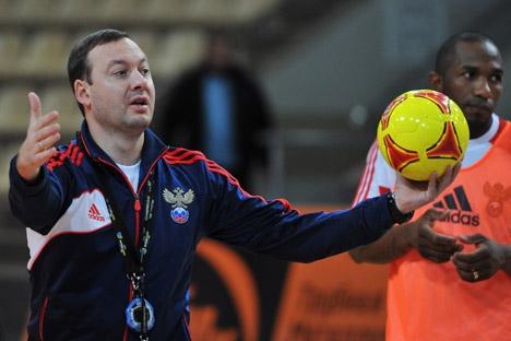 O treinador da equipe russa, Serguêi Skorovitch Foto: RIA Nóvosti