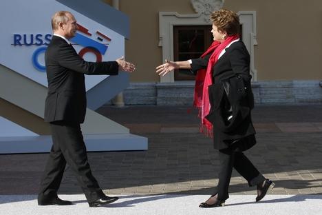 O Brasil é o principal parceiro comercial da Rússia na América Latina. As lideranças dos dois países fixaram o objetivo de aumentar seu intercâmbio comercial para US$ 10 bilhões por ano Foto: Reuters