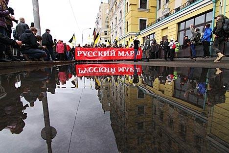 Os organizadores esperam que 30 mil pessoas participem da ação, motivo pelo qual cinco mil policiais ficarão responsáveis pela segurança no sudeste da capital Foto: ITAR-TASS