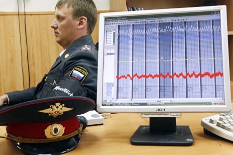 Polígrafos ajudarão a selecionar futuros policiais e combater a corrupção Foto: ITAR-TASS