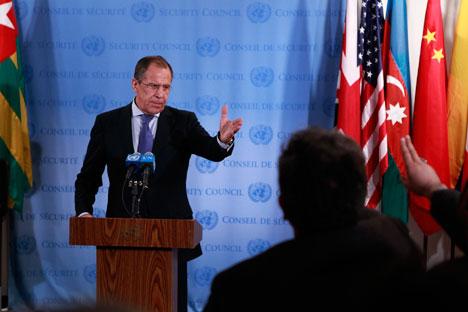 Chanceler russo, Serguêi Lavrov Folnte: Reuters