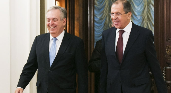 Durante a visita de dois dias, o ministro brasileiro se encontrou com seu homólogo russo, Serguêi Lavrov, para discutir as perspectivas das relações bilaterais Foto: ITAR-TASS