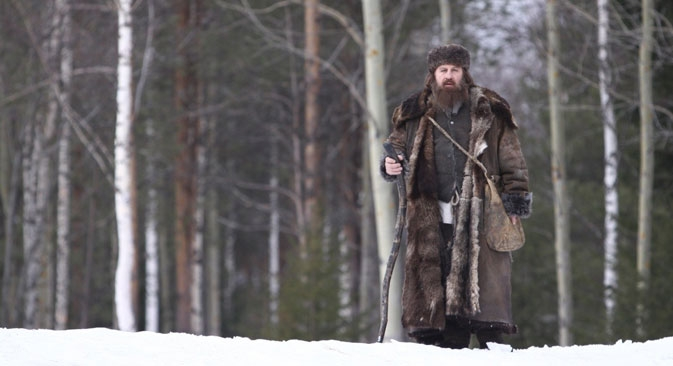 Depardieu, que ganhou nacionalidade russa no início deste ano, interpreta camponês místico Foto: kinopoisk
