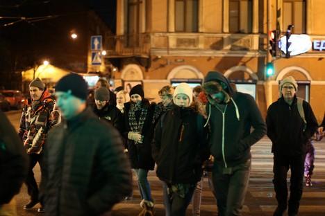 Ativistas estrangeiros libertados sob fiança estão acomodados em hotel de São Petersburgo Foto: Lenta.ru