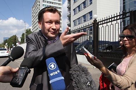 Alekseev já recebeu uma multa de 5.000 rublos (US$ 150) por uma ação semelhante Foto: AP