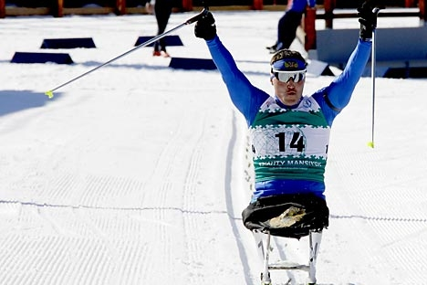 Irek Zaripov foi o maior medalhista dos atletas russos na Paraolimpíada de Vancouver Foto: ITAR-TASS