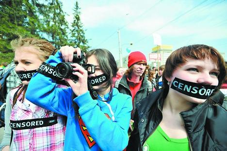 A quantidade de semelhantes revistas em russo continua crescendo na internet Foto: RIA Nóvosti