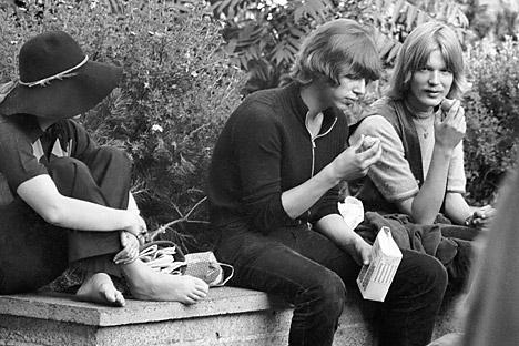 Em 1971, existiam em Moscou cerca de 1.000 hippies Foto: Lev Nossov/RIA Nóvosti