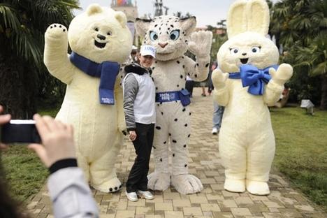Em fevereiro de 2011, o leopardo, o urso branco e a lebre foram finalmente selecionados como os mascotes dos Jogos Olímpicos de Sôtchi-2014 Foto: PhotoXPress