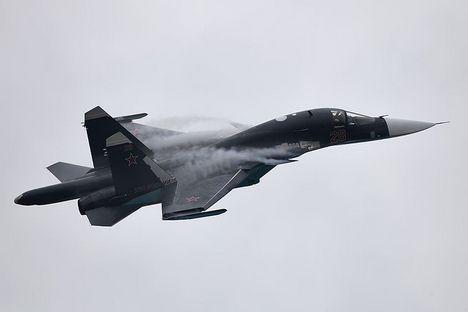 Su-34 é um híbrido de caça e bombardeiro Foto: Vitáli Kuzmin/wikipedia.org