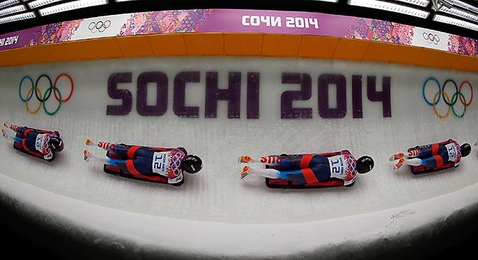 Russa Elena Nikitina levou o bronze na final de skeleton Foto: Reuters
