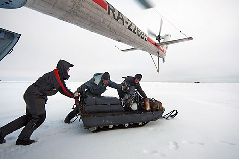Condições de exploradores polares russos são bem diferentes das dos americanos – e não é para melhor Foto: ITAR-TASS
