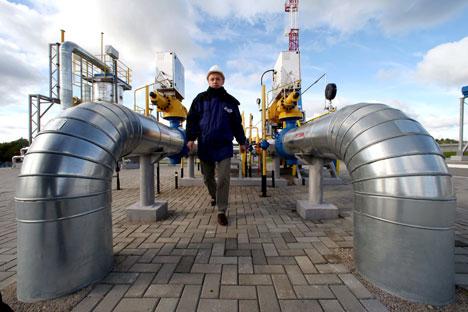 Atualmente a Gazprom detém o monopólio na exportação de gás por gasoduto, controlando assim o sistema de transporte de gás do país Foto: RIA Nóvosti