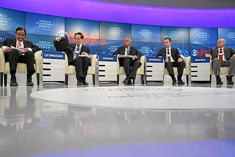 Participantes do evento organizado em Davos pelo banco público russo Sberbank também se referem ao Brasil como o principal adversário da Rússia na luta pelos investimentos estrangeiros Foto: World Economic Forum / Nicola Pitaron