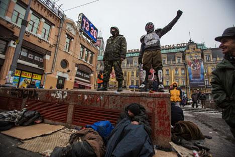 Uma das ruas centrais de Kiev Foto: RIA Nóvosti / Andrêi Stenin