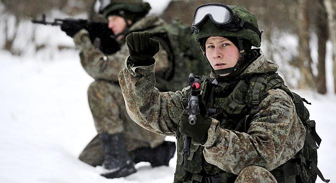 Todos os soldados que estiverem ligados a essa rede serão exibidos em tempo real em um mapa digital Foto: ITAR-TASS
