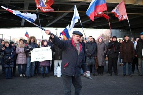 Manifestações contra decisão do senado russo acabaram em detenções Foto: ITAR-TASS