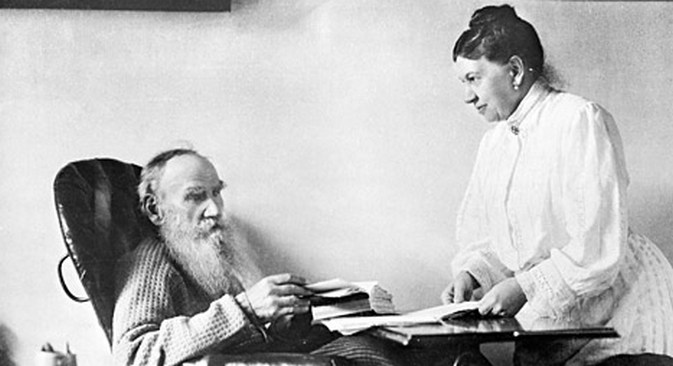 "Google  fantasiou sobre o tema ""Lev Tolstói e Twitter"" Foto: RIA Nóvosti"