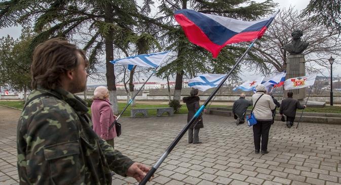 """Para muitos, a Ucrânia nunca foi e nunca será """"exterior"""" Foto: Serguêi Savostianov/RG"""