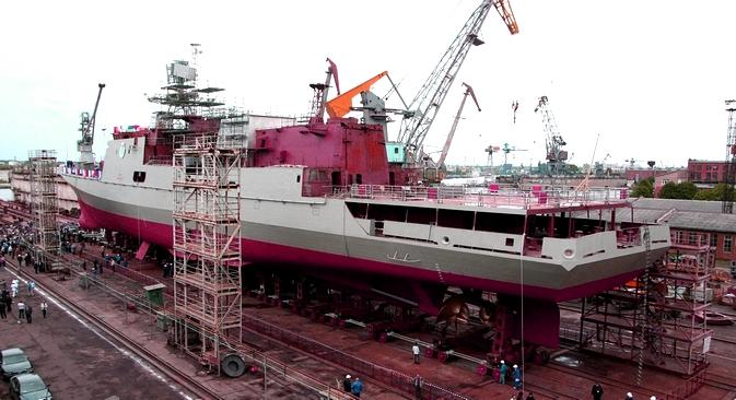 As novas fragatas estão substancialmente melhor armadas Foto: Ígor Zarembo/RIA Nóvosti