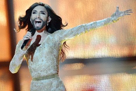 Conquista de cantora austríaca causou controvérsia nos meios de comunicação Foto: RIA Nóvosti
