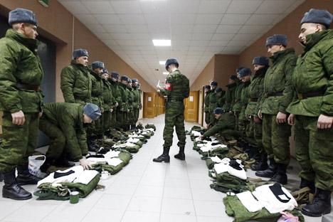 Número de militares por contrato no Exército russo deve chegar a meio milhão até 2017 Foto: RIA Nóvosti