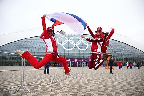 """Encontro recebeu o nome simbólico de """"Sôtchi -Moscou-Rio"""" Foto: Photoshot/Vostock-Photo"""