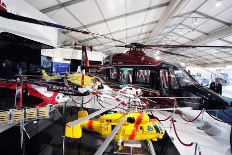 HeliRussia-2014 reuniu fabricantes de helicópteros e autoridades em Moscou Foto: ITAR-TASS